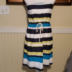 Gap Tube Striped Dress Cinched at waist
